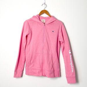 Champion Pink Zip Up Hoodie Sweater